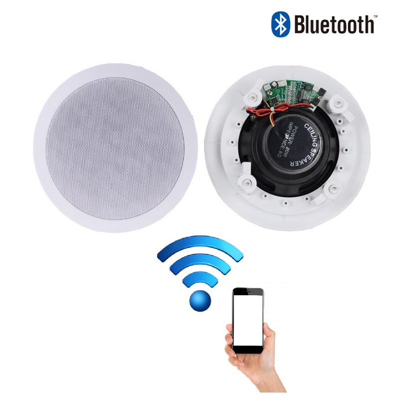 Details About Bathroom Or Kitchen Wireless Bluetooth Amplifier Ceiling Speakers